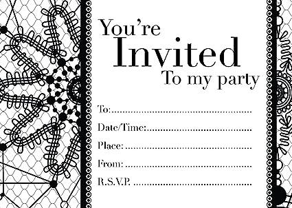 16 A6 invitaciones para cumpleaños o cualquier ocasión. Para ...