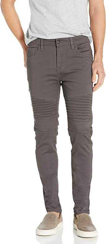 Southpole Mens Flex Stretch Basic Twill and Rinse Denim Pants