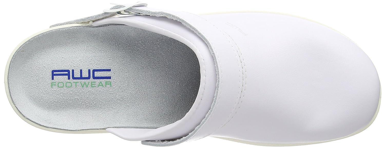 Unbekannt Sandale wei/ß//Mint Zuecos para Mujer Ristpolster
