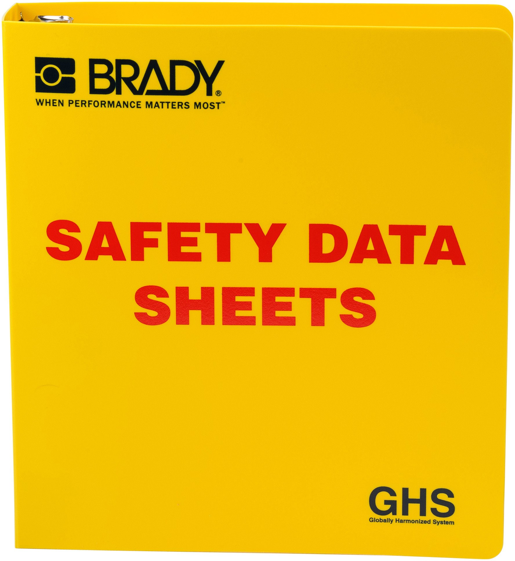 Brady 121183 GHS - 1.5'' Safety Data Sheet Binder - English