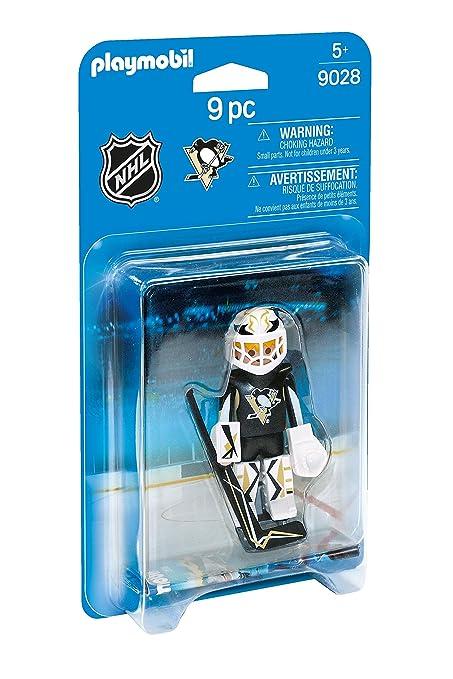 e6b626d88 Amazon.com  PLAYMOBIL NHL Pittsburgh Penguins Goalie  Toys   Games
