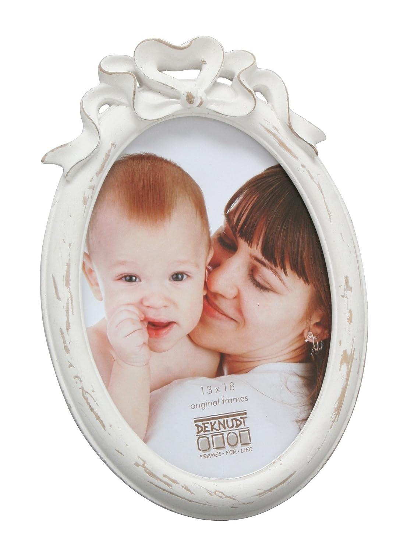 Deknudt Frames Bilderrahmen oval Fun & Deco Farbe: Weiß, Größe (Bild ...