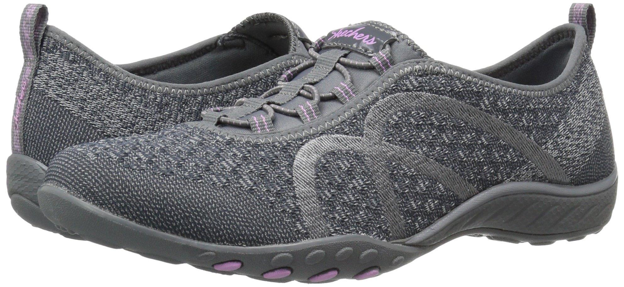 Skechers Sport Women's Breathe Easy Fortune Fashion Sneaker,Charcoal Knit,5 M US by Skechers (Image #6)