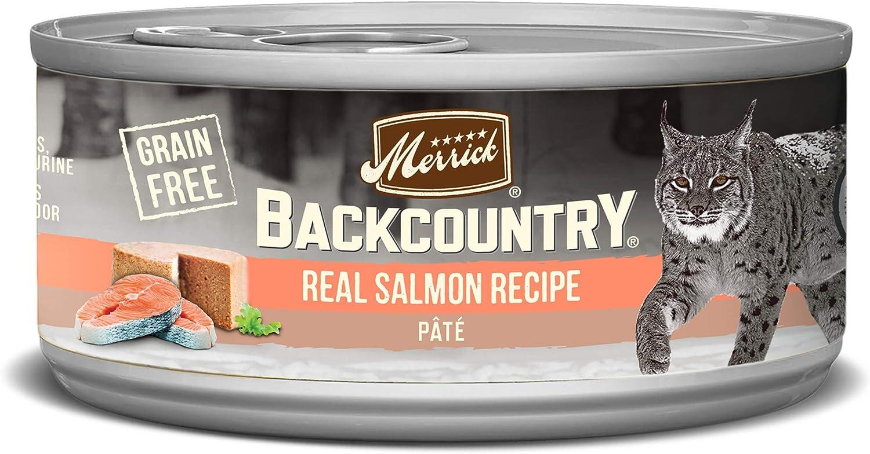 Merrick Backcountry Grain Free Pate Wet Cat Food Mature Recipe (Case of 24)