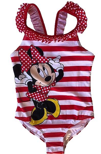 Amazon.com: Fashion Girls Disney Minnie Mouse traje de baño ...