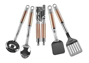 Kitchenaid KT473MLCO 5-Piece Kitchen Tool Set, Copper