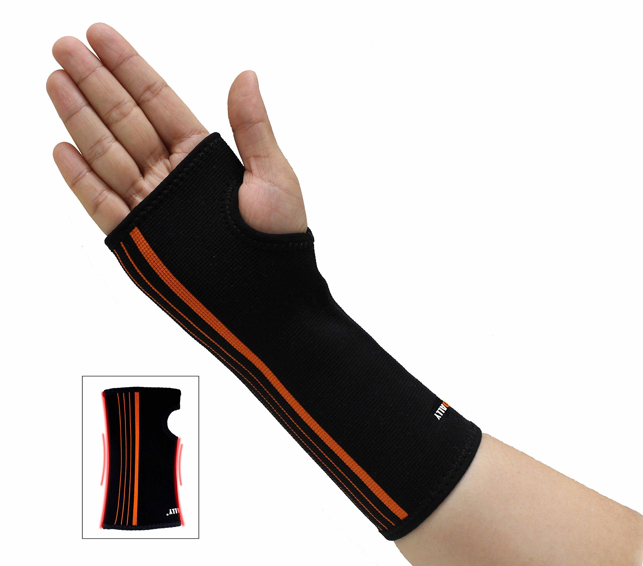 NEOALLY Wrist Sleeve Support Hand Compression Brace for Carpal Tunnel, Arthritis, Tendonitis, Bursitis and Wrist Sprain (Medium Single)