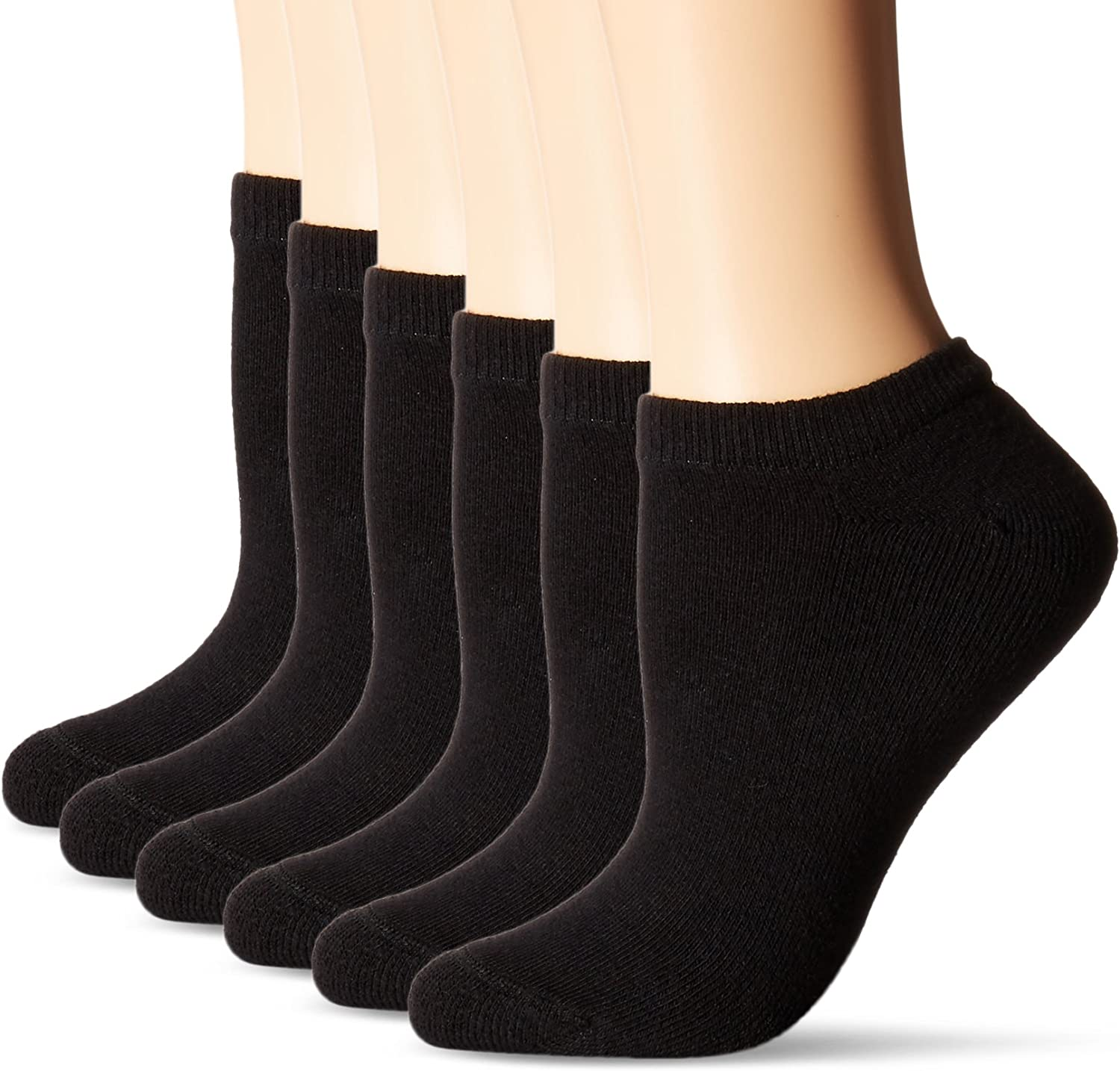 NEW Hanes Women/'s Socks Cool and Dry ComfortBlend No Show