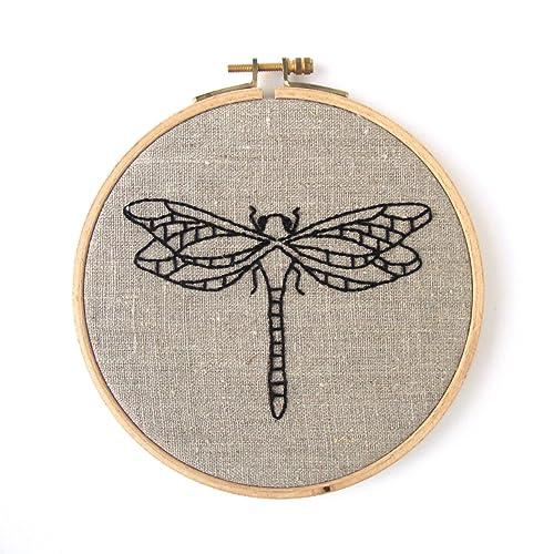 Amazon Dragonfly Embroidery Kit Natural Handmade