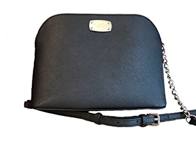 2a5fd76acce5 Michael Kors Cindy Large Dome Cross-body in Saffiano Leather (Black ...
