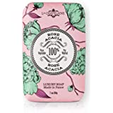 La Chatelaine Luxury Exfoliating Bar Soap | Natural Shea Formula (Rose Acacia, 7 oz)