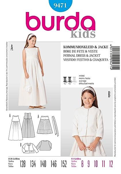 Burda Childrens Sewing Pattern 9471 - Formal Dress & Jacket Sizes: ...