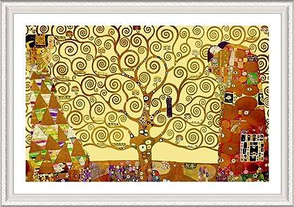 Amazon Com Alonline Art Tree Of Life Yellow Gustav Klimt