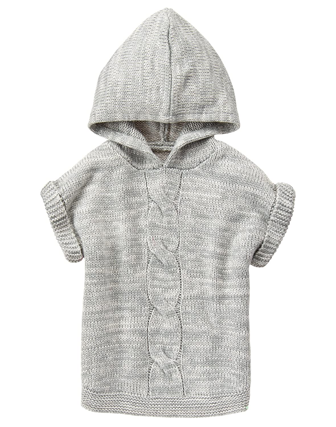 Crazy 8 Girls' Little Grey Hooded Poncho