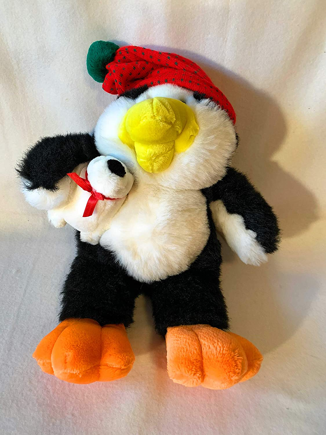 weighted stuffed animals in 5-6 lbs WEIGHTED CHRISTMAS bear and penguin