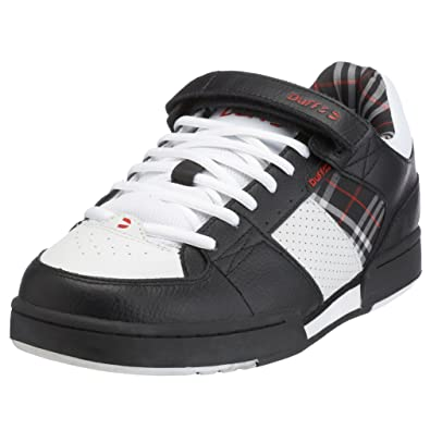 9a7ec8fd32 Duffs Mens Barletta 3 Black White Red RR0985 BKW 8 UK  Amazon.co.uk  Shoes    Bags