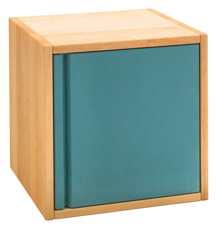 BioKinder 24684 Laura Regalwürfel Regalelement mit Tür aus Massivholz 40 x 40 cm