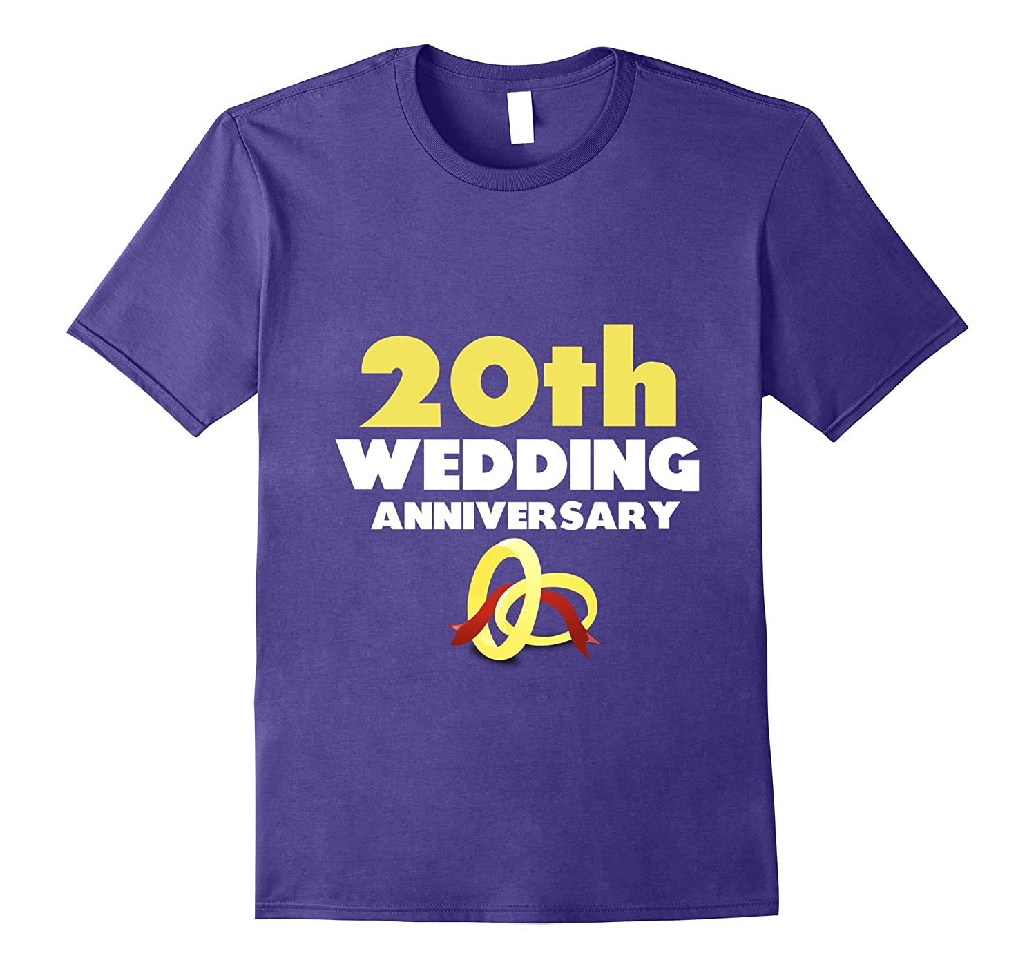 20th Wedding Anniversary 20 Years T-Shirt Gift for Couples-CD