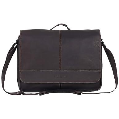 041ca7b7aaf Kenneth Cole Reaction Risky Full Grain Colombian Leather Slim Flapover  Crossbody Business Messenger Bag
