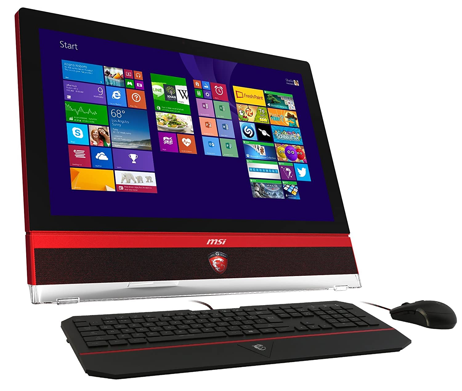 Msi G Series Ag270 2pe 004us 27 Inch All In One Touchscreen Desktop Black Red Trim