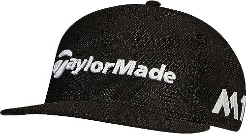 TaylorMade 2017 New Era Tour 9Fifty P5 Flat Bill Hat Structured Mens  Snapback Golf Cap Black 5e3d80f7d2f