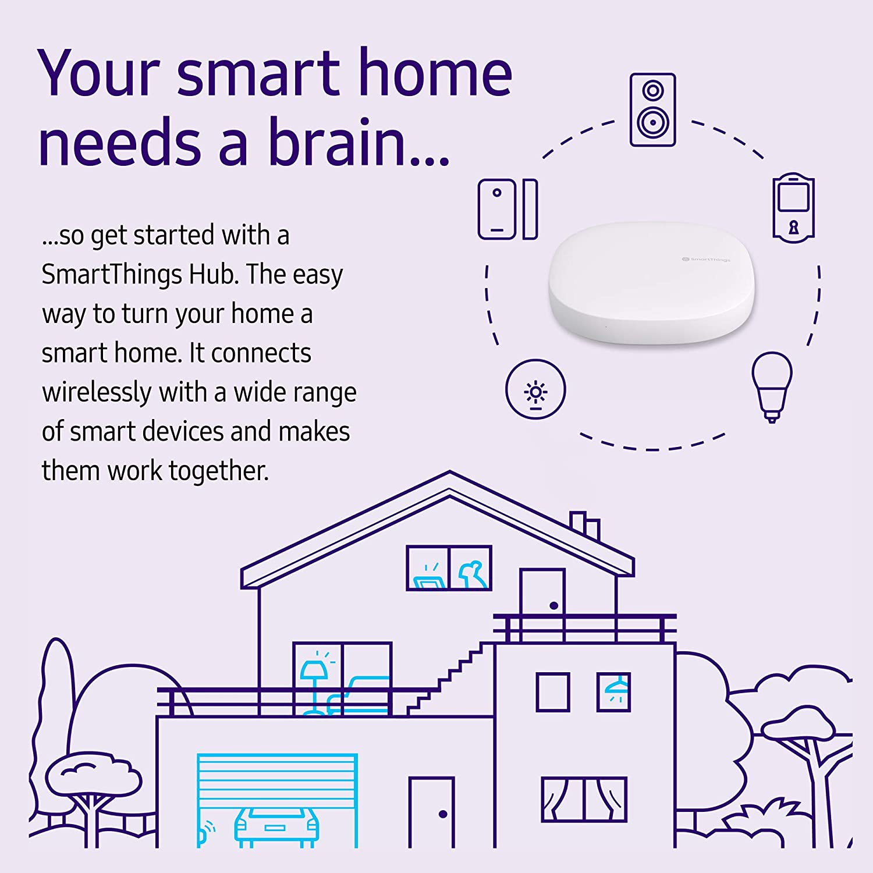 Samsung Gp U999sjvlgda 3rd Generation Smartthings Hub White Amazon Com