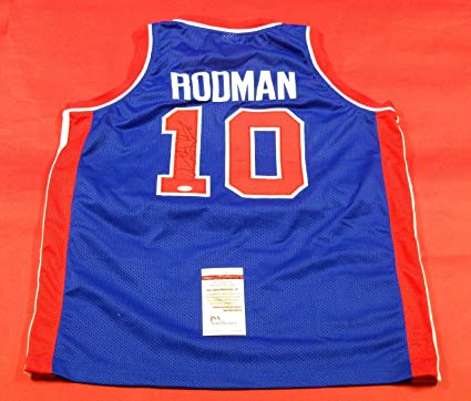 competitive price 53cac bc9f6 DENNIS RODMAN AUTOGRAPHED DETROIT PISTONS JERSEY JSA at ...