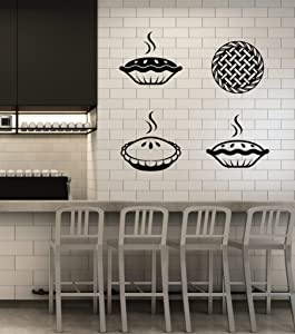 Vinyl Wall Decal Bakery Shop Cake Kitchen Pie Baking House Cafe Stickers Mural Large Decor (g2152) Black