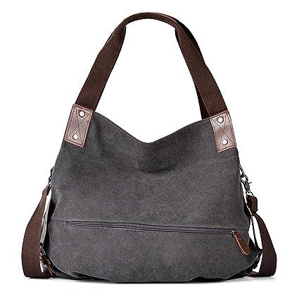 Amazon.com: COOFIT Bolsas de lona para mujer, bolsa de lona ...