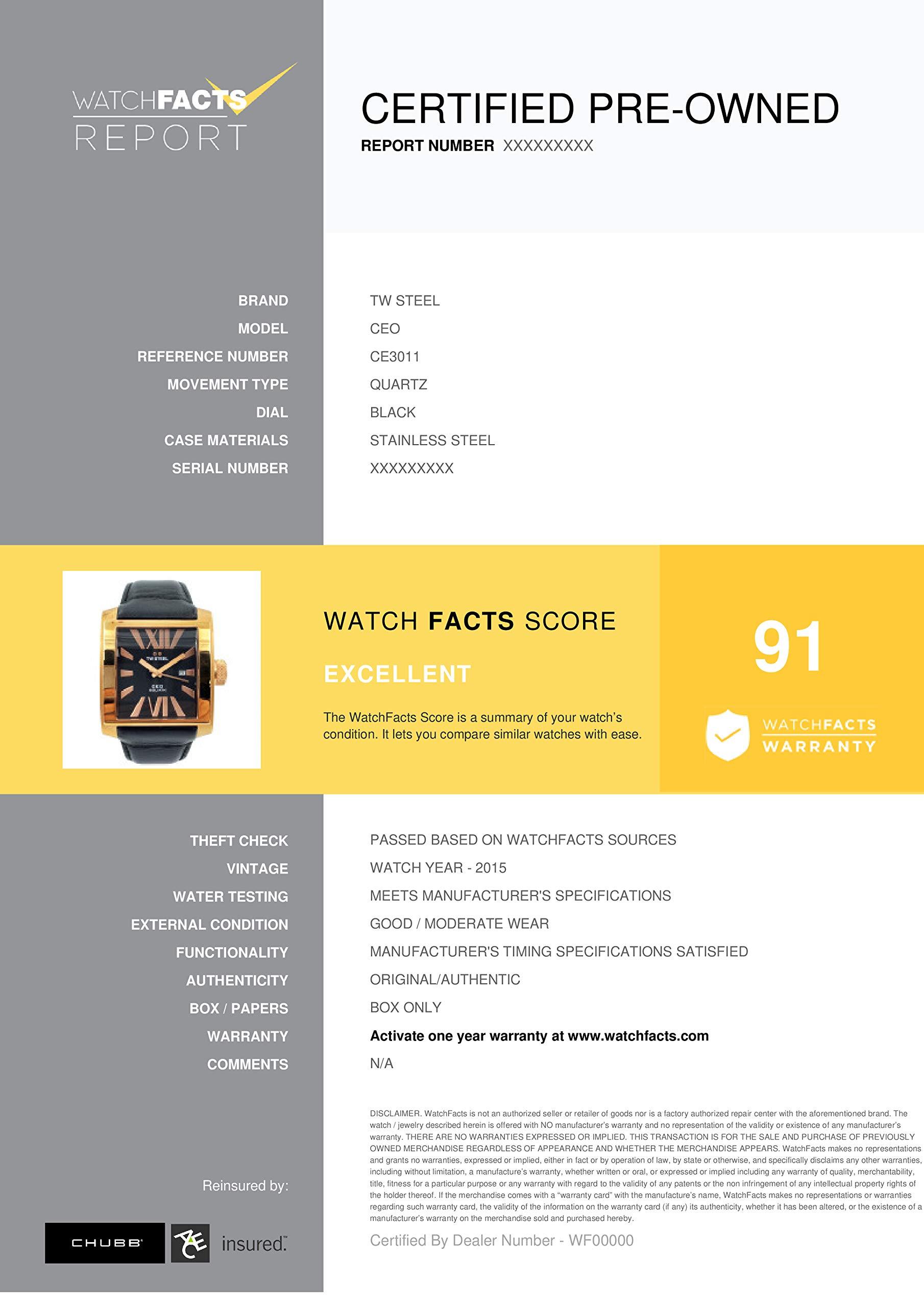TW Steel CEO Quartz Male Watch CE3011 (Certified Pre-Owned) by TW Steel (Image #6)