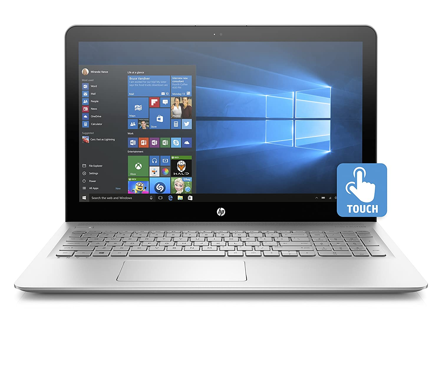 """Amazon.com: HP ENVY 15-as020nr 15"""" Notebook (Intel Core i7, 12 GB RAM, 256  GB SSD, Touch Screen): Computers & Accessories"""