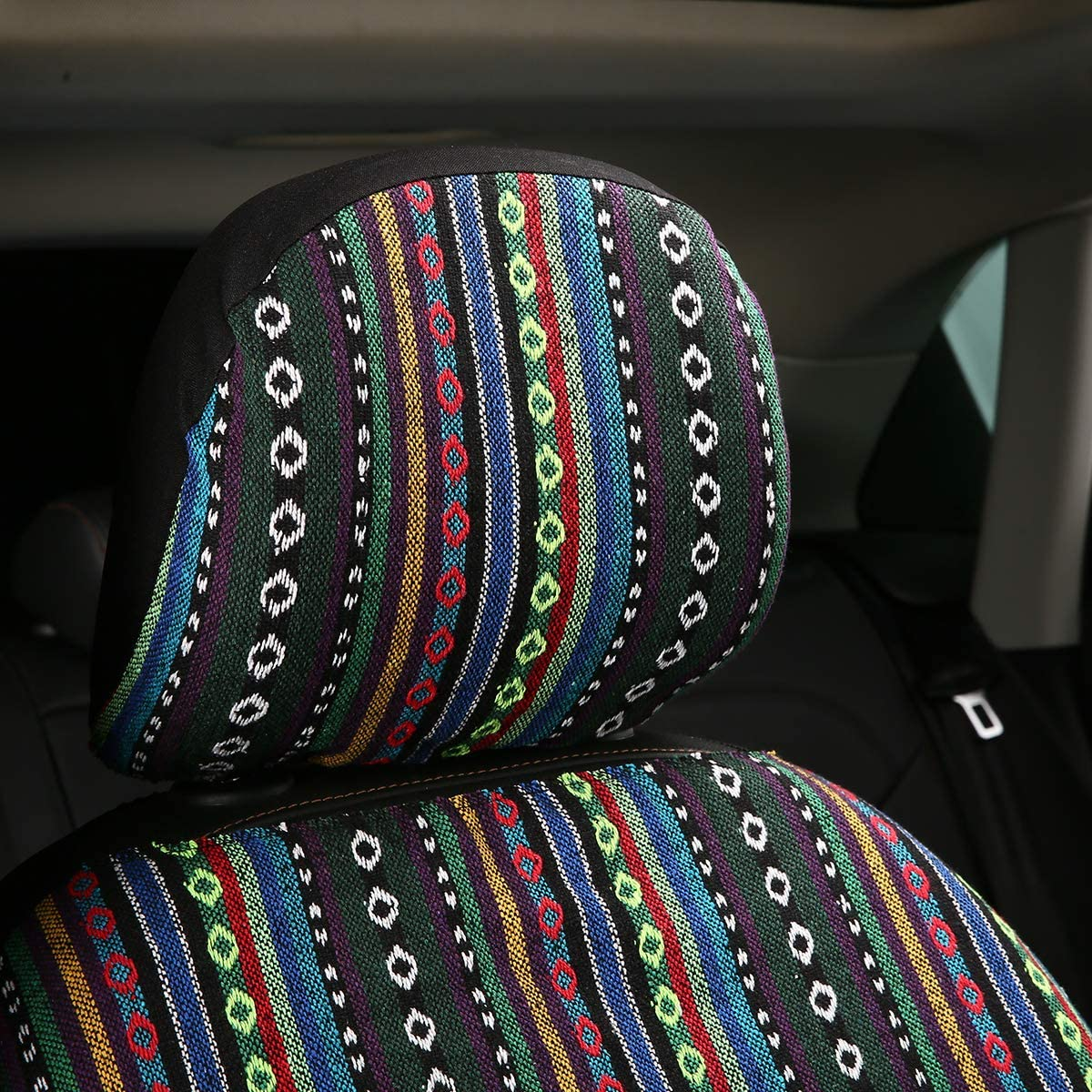 boxi-f SHAKAR Baja Blanket Car Seat Covers-Stripe Colorful Seat Covers