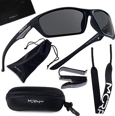 Polarized Mens Biker Style Warp Light Weight Oval Round Sports Sunglasses New