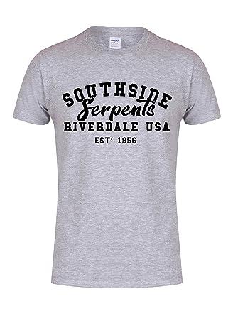 48b9acc2 Kelham Print Unisex Slogan T-Shirt Southside Serpents Riverdale USA Est'  1956 Grey Small