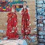 Jaipuri haat Handicraft Cotton Puppets Kathputli In Pair (Multicolour)