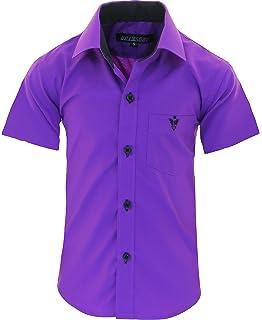 46118a903328ab GILLSONZ A70vDa Kinder Party Hemd Freizeit Hemd bügelleicht Kurz ARM 7 Farben  Gr.86-