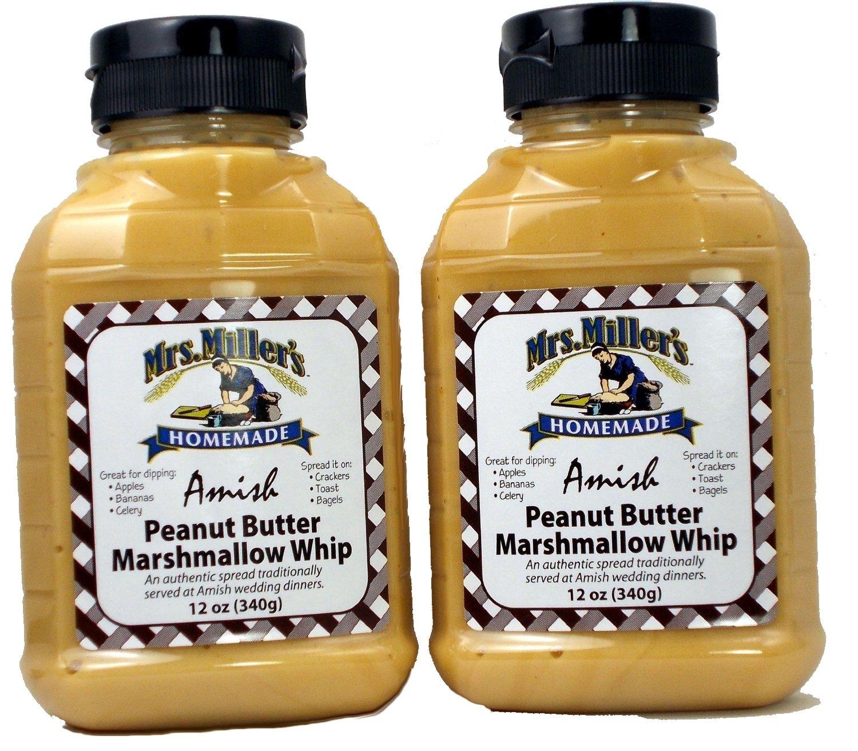 Amish Peanut Butter Marshmallow Whip - 2 / 12 Oz. Bottles, Mrs Millers Brand