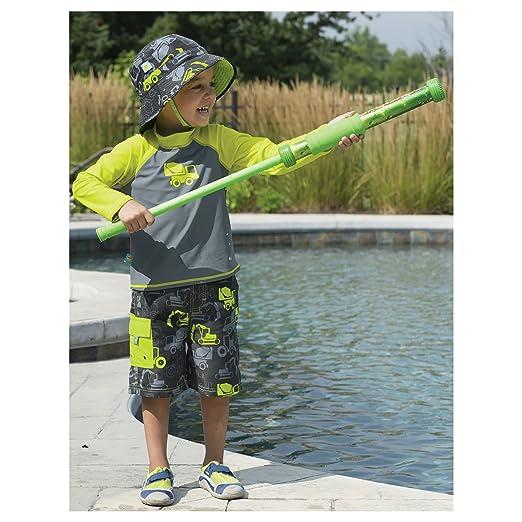 5c52906bcc Amazon.com: Sun Smarties Truck Longsleeve Rashguard and Swim Diaper Trunks,  Baby Boy, Grey, 12 Month: Clothing
