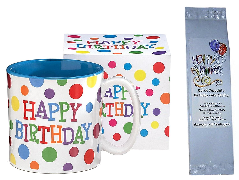 Amazon Happy Birthday Polka Dots Coffee Mug With Dutch
