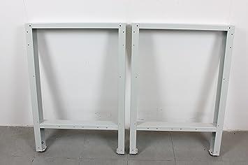 Werbankfusse 82cm Hoch Grau Lackiert Tisch Arbeitsplatte 58cm Tiefe