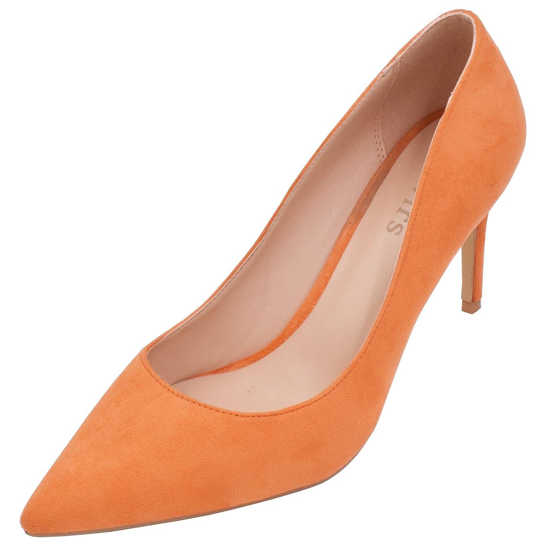 Lovirs , Damen Pumps Orange Orange Orange Orange Suede 76f45a