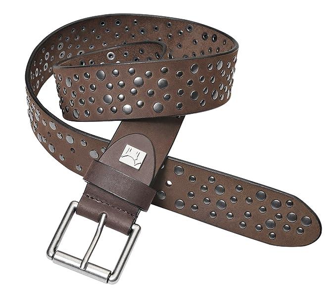 PELPE- Cinturón de piel con tachuelas para mujer. (negro 1fb007554636