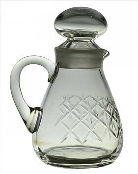 Aceite de oliva o vinagre botella en cristal tallado Vintage Inglés