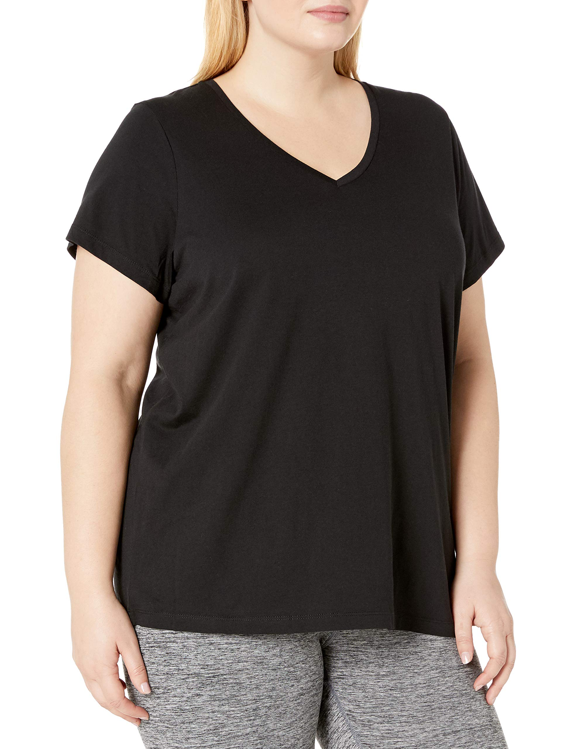 HUE Women's Plus Short Sleeve V-Neck Sleep