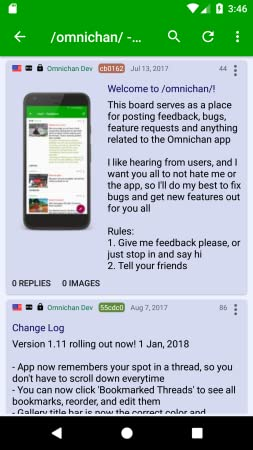 : Omnichan Pro: 4chan and 8chan Client: Appstore