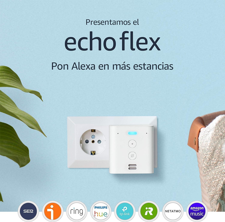 Presentamos el Echo Flex - Altavoz inteligente con enchufe integrado y Alexa