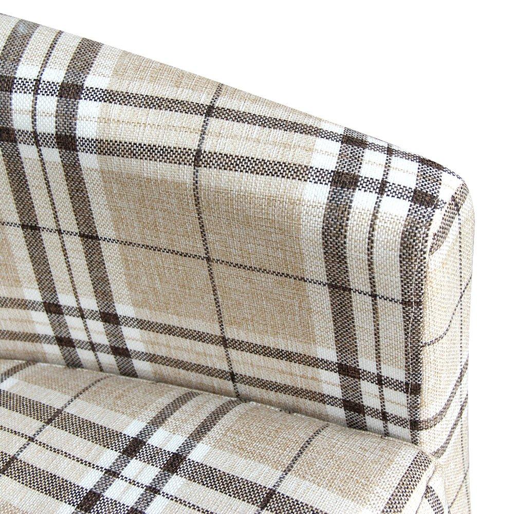 Poltrona a pozzetto Di alta qualit/à sala da pranzo ufficio In tessuto tartan reception Per soggiorno Con cuscino incluso