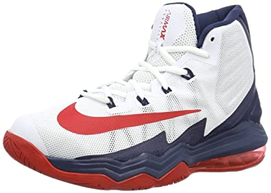 Details about NIKE AIR MAX AUDACITY 2016 SIZE 8.5 RED, SILVER, WHITE BASKETBALL MEN'S