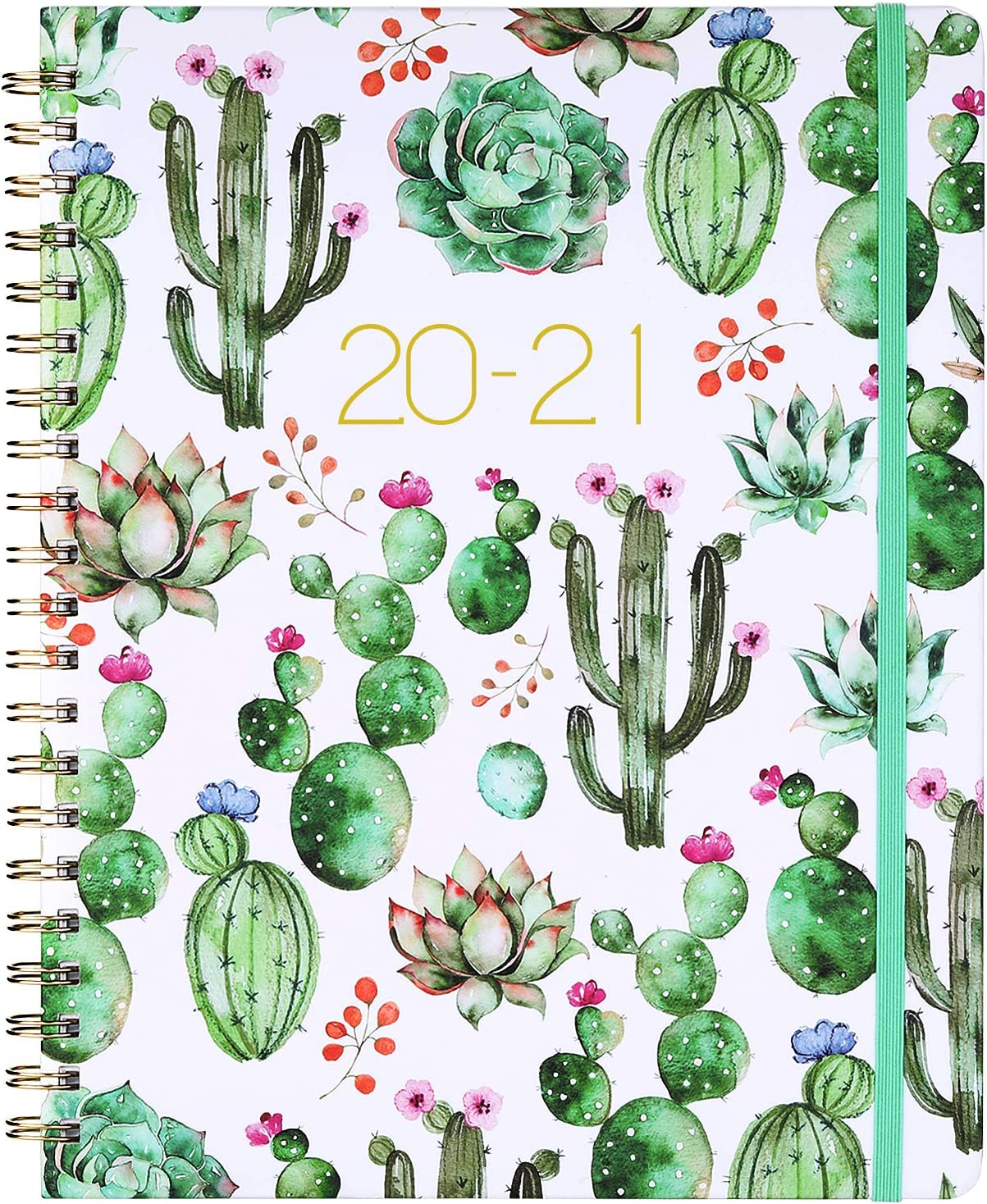 """Planner - Weekly & Monthly Planner with Flexible Cover, 8.5"""" x 11"""", Strong Twin - Wire Binding, 12 Monthly Tabs, Round Corner"""