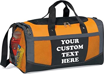 e88a1bec1 Image Unavailable. Image not available for. Color: Custom Sports Bags and Personalized  Duffle ...